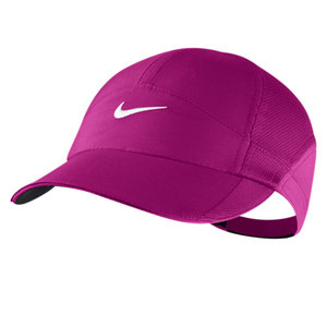 NIKE WOMENS FEATHERLIGHT CAP GRAY VIOLET