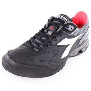 DIADORA MENS S STAR K V TENNIS SHOES BLACK/WHITE