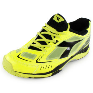 Men`s S Pro ME Tennis Shoes Fluo and Black