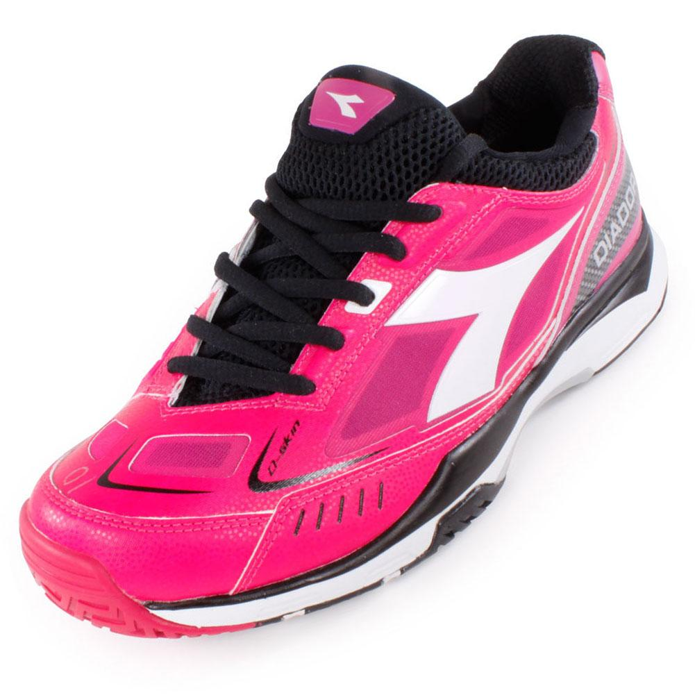 Women's S Pro Me Tennis Shoes Bright Rose And Black