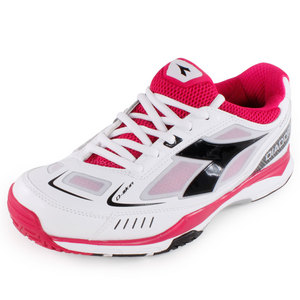 DIADORA WOMENS S PRO ME TENNIS SHOES WHITE/B ROS