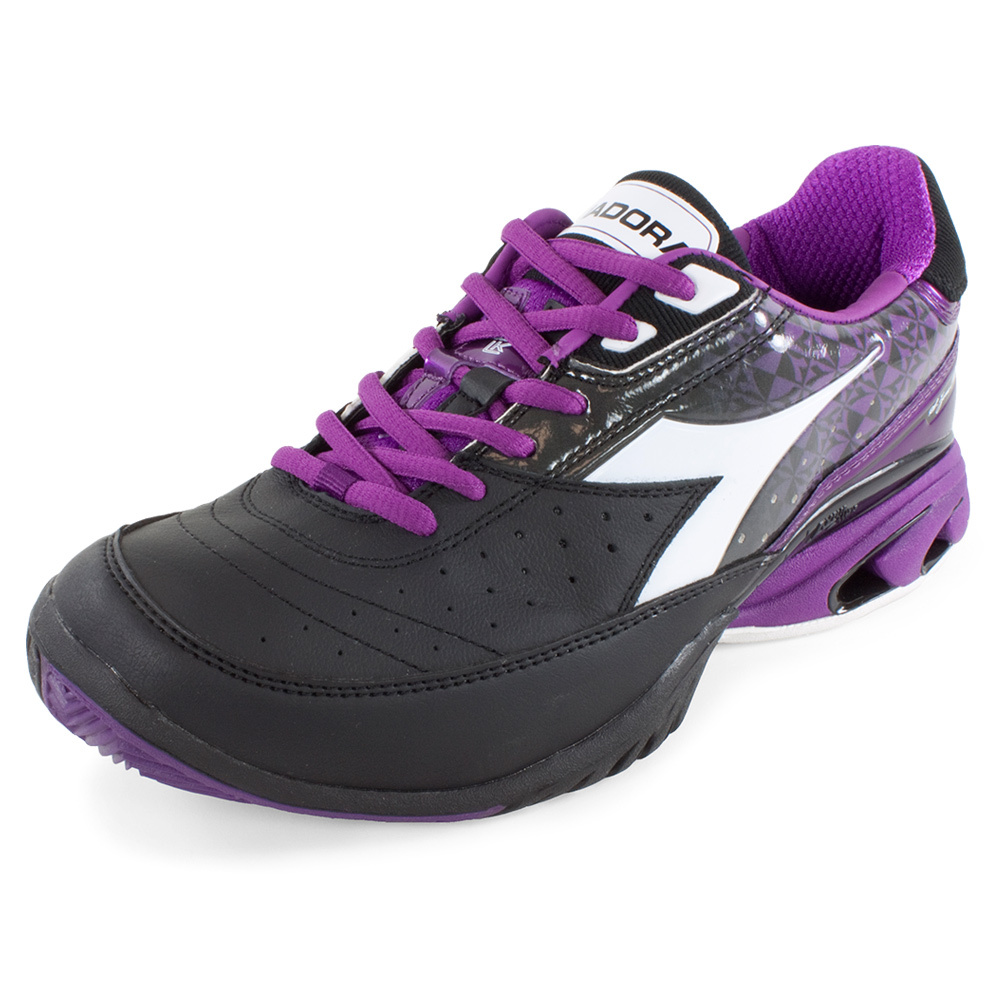 s s k ii tennis shoe black and violet