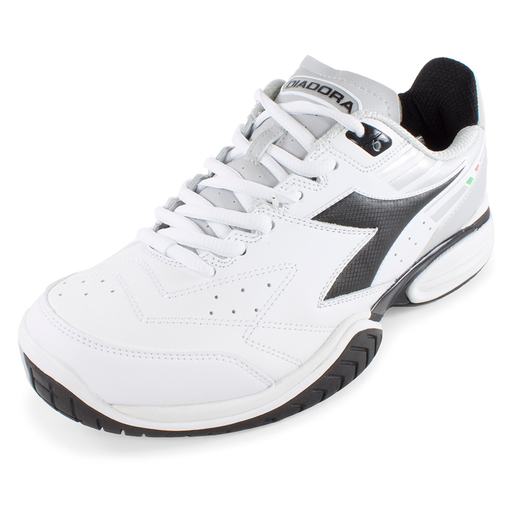 Men`s S Tech II Tennis Shoes White and Black