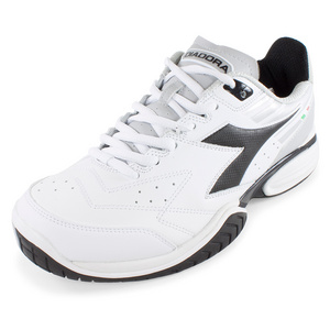 DIADORA MENS S TECH II TENNIS SHOES WHITE/BLACK