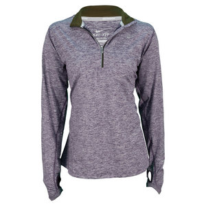 NIKE WOMENS ELEMENT HALF ZIP RUN TOP PURPLE