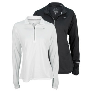 NIKE WOMENS ELEMENT HALF ZIP RUNNING TOP