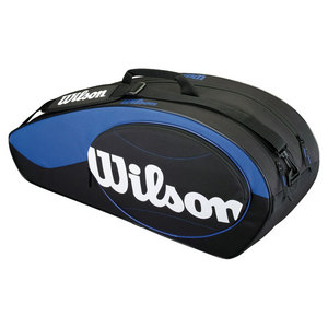 WILSON MATCH 6 PACK TENNIS BAG BLUE AND BLACK