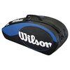 WILSON Match 6 Pack Tennis Bag Blue and Black