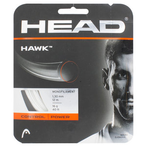 HEAD HAWK 16G TENNIS STRING WHITE