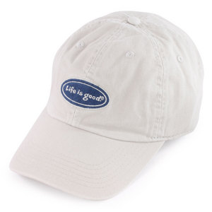 LIFE IS GOOD MENS CLASSIC OVAL CAP BONE WHITE