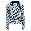Women`s Topspin 1/4 Zip Tennis Pullover Black Tie Dye by ELEVEN