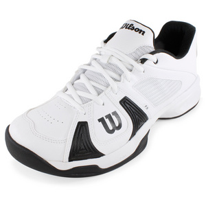 WILSON MENS RUSH OPEN TENNIS SHOES WHITE/BLACK