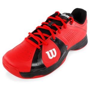 WILSON MENS RUSH SPORT TENNIS SHOES RED/BLACK