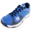 Men`s Rush 2 Tennis Shoes Blue and White by WILSON