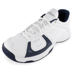 WILSON MENS RUSH 2 TENNIS SHOES WHITE/NAVY