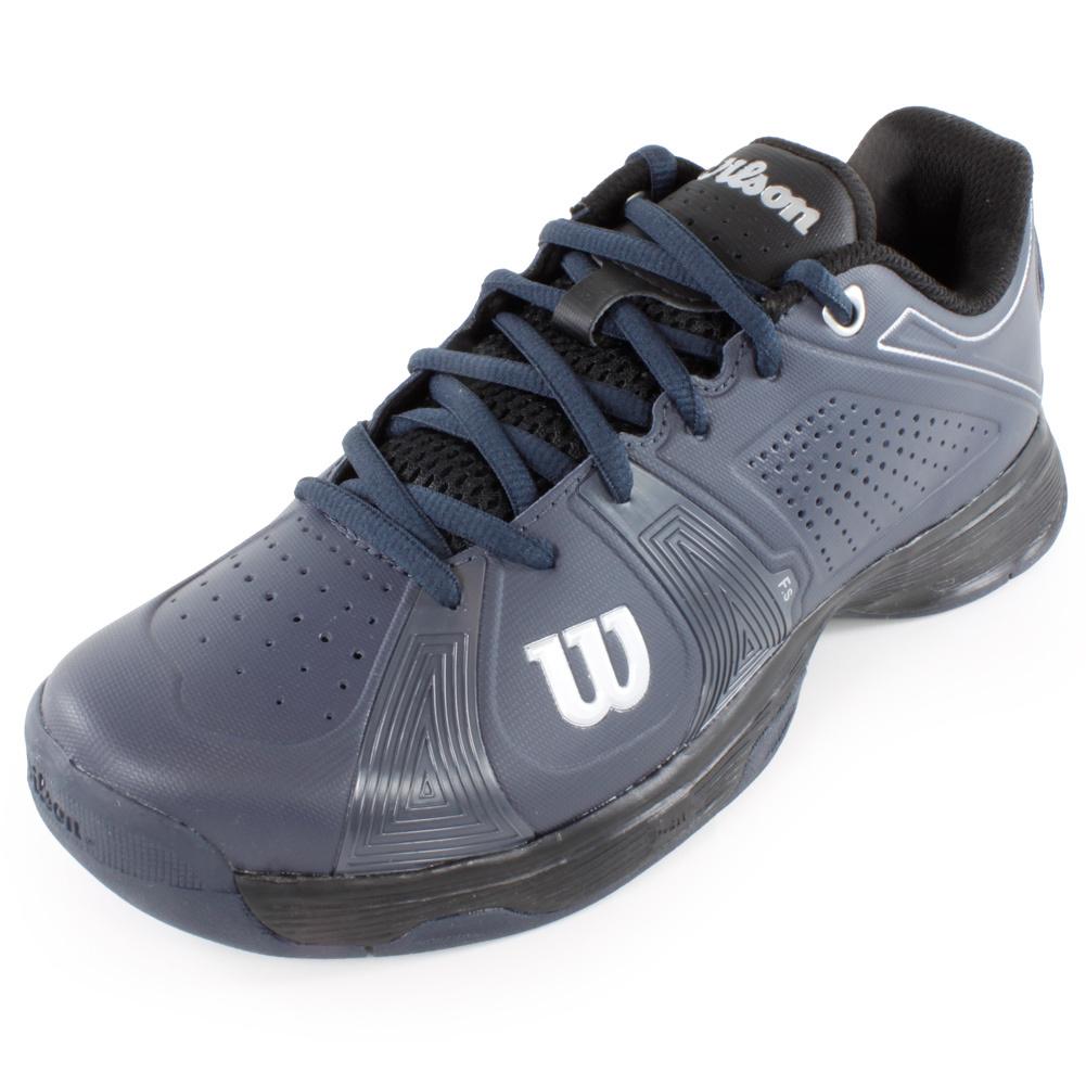 wilson s sport tennis shoes gray and black ebay