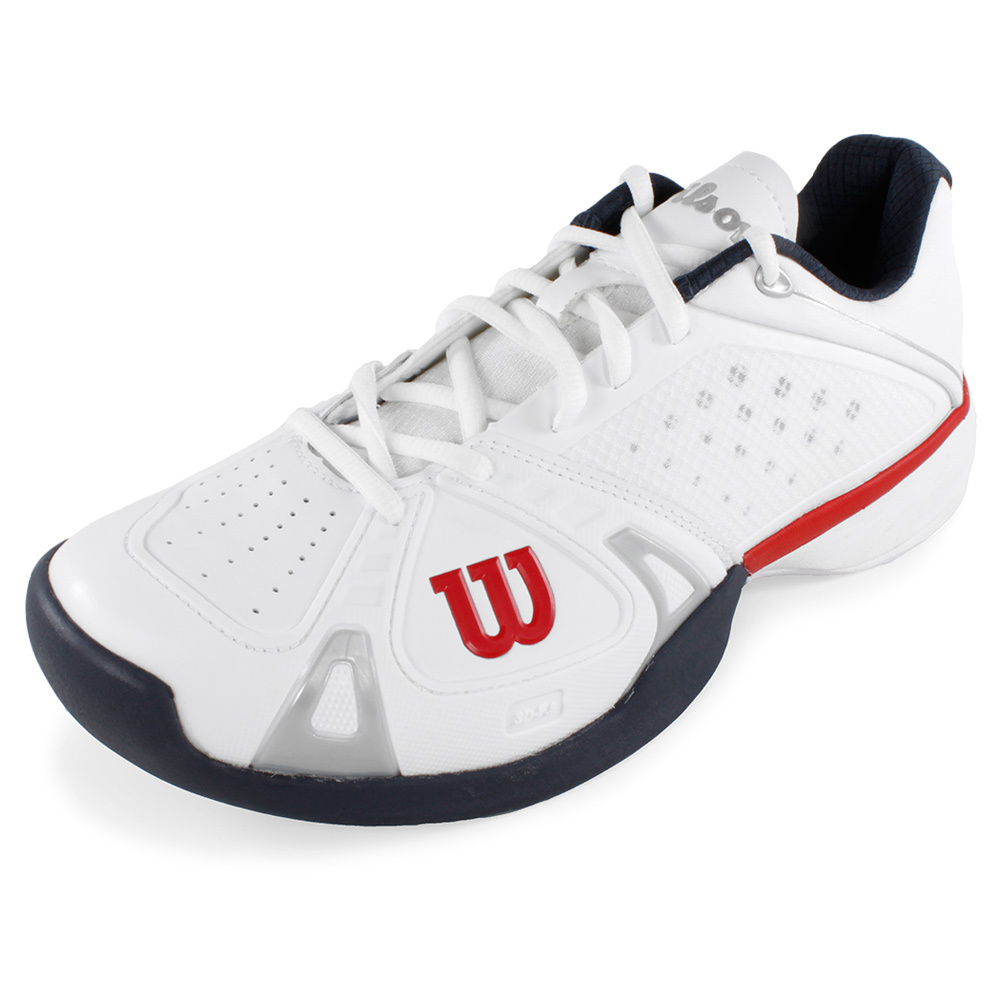 wilson s pro tennis shoes white and gray