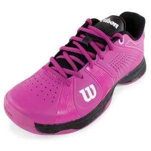 WILSON WOMENS RUSH SPORT SHOES FUCHSIA/BLACK