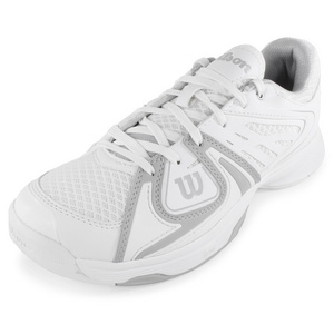 WILSON WOMENS RUSH 2 TENNIS SHOES WHITE/GRAY