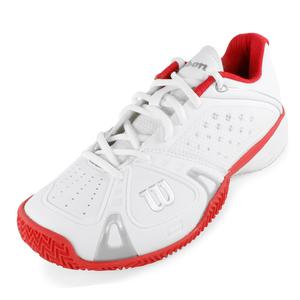WILSON WOMENS RUSH PRO CC TENNIS SHOES WH/RD