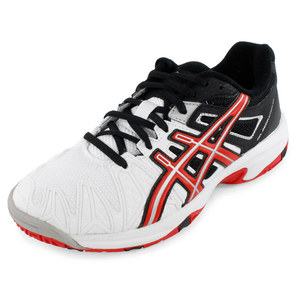 ASICS JUNIORS GEL RESOLUTION 5 T SHOES WH/RED