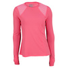 LUCKY IN LOVE Women`s Long Sleeve Crew Tennis Top Pink