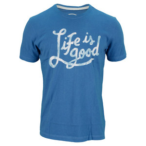 LIFE IS GOOD MENS CREAMY TEE EXTRA BLUE