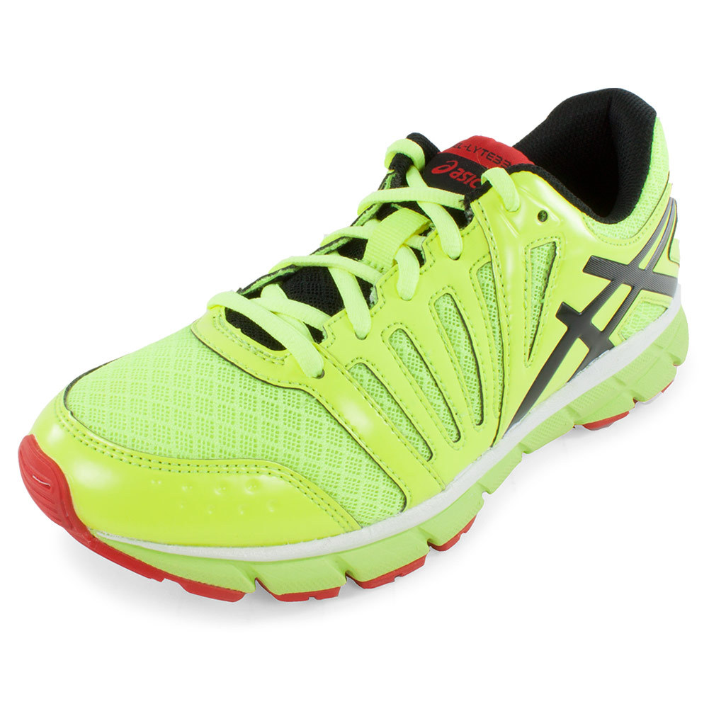 Juniors` Gel Lyte33 2 Running Shoes Flash Yellow and Lightning The Asics Juniors Gel Lyte33 2 Running Shoes Yellow and Lightning are ultra flexible and lightweight while still providing plenty of cushion A favorite among runners for its quality construction and durabilityUpperReinforced stitched toe cap enhances dura