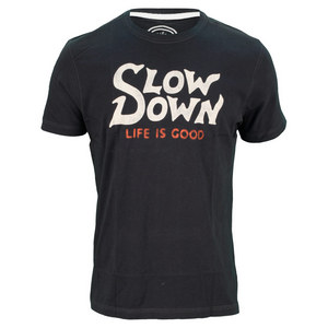 LIFE IS GOOD MENS SLOW DOWN TEE NIGHT BLACK