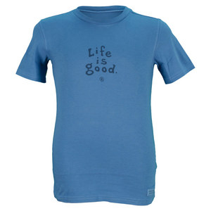 LIFE IS GOOD BOYS CRUSHER TEE EXTRA BLUE
