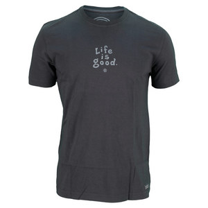 LIFE IS GOOD MENS CRUSHER TEE NIGHT BLACK