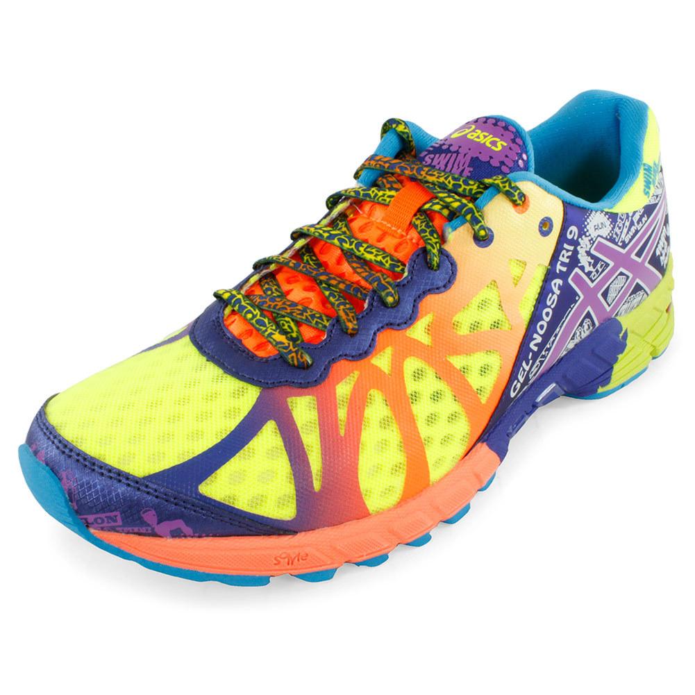 Men's Gel Noosa Tri 9 Running Shoes Flash Yellow And Neon Purple