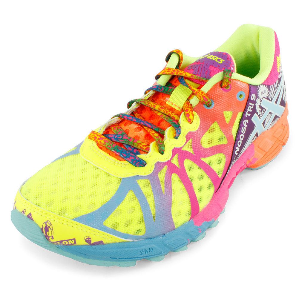 Women's Gel Noosa Tri 9 Running Shoes Flash Yellow And Turquoise