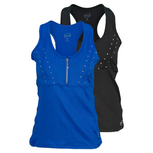 DOUE WOMENS ZIPPER TENNIS TANK