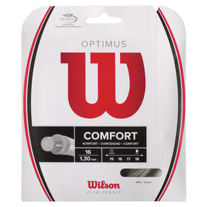 WILSON OPTIMUS 16G TENNIS STRING SILVER