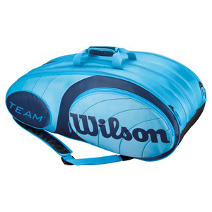 WILSON TEAM 12 PACK TENNIS BAG BLUE