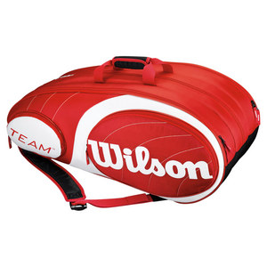 WILSON TEAM 12 PACK TENNIS BAG RED/WHITE