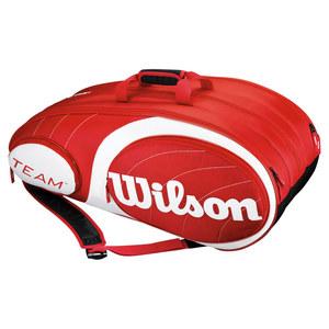 WILSON TEAM 12 PACK TENNIS BAG RED/WHITE