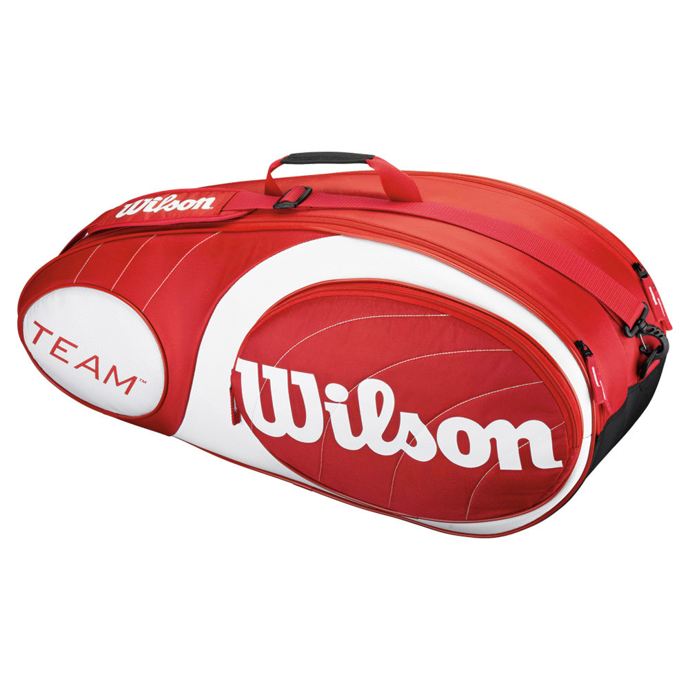 Team 6 Pack Tennis Bag Red And White