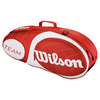Team 3 Pack Tennis Bag Red and White by WILSON
