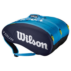 WILSON TOUR 15 PACK TENNIS BAG BLUE MOLDED