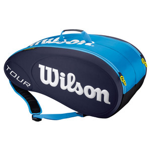 WILSON TOUR 9 PACK TENNIS BAG BLUE MOLDED