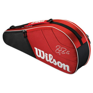 WILSON FEDERER TEAM 3 PACK TENNIS BAG RED