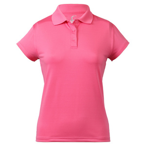 Women`s Cap Sleeve Tennis Polo Passion Pink