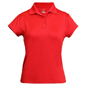 Women`s Cap Sleeve Tennis Polo Red