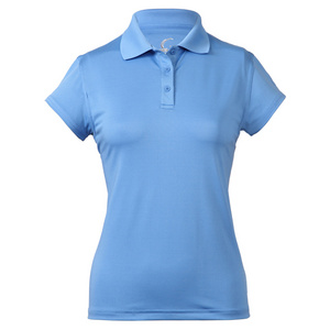 Women`s Cap Sleeve Tennis Polo Pacific Blue
