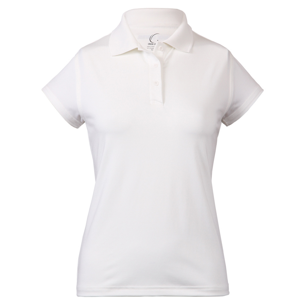 Women's Cap Sleeve Tennis Polo White