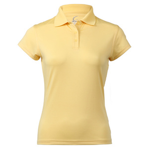 Women`s Cap Sleeve Tennis Polo Yellow