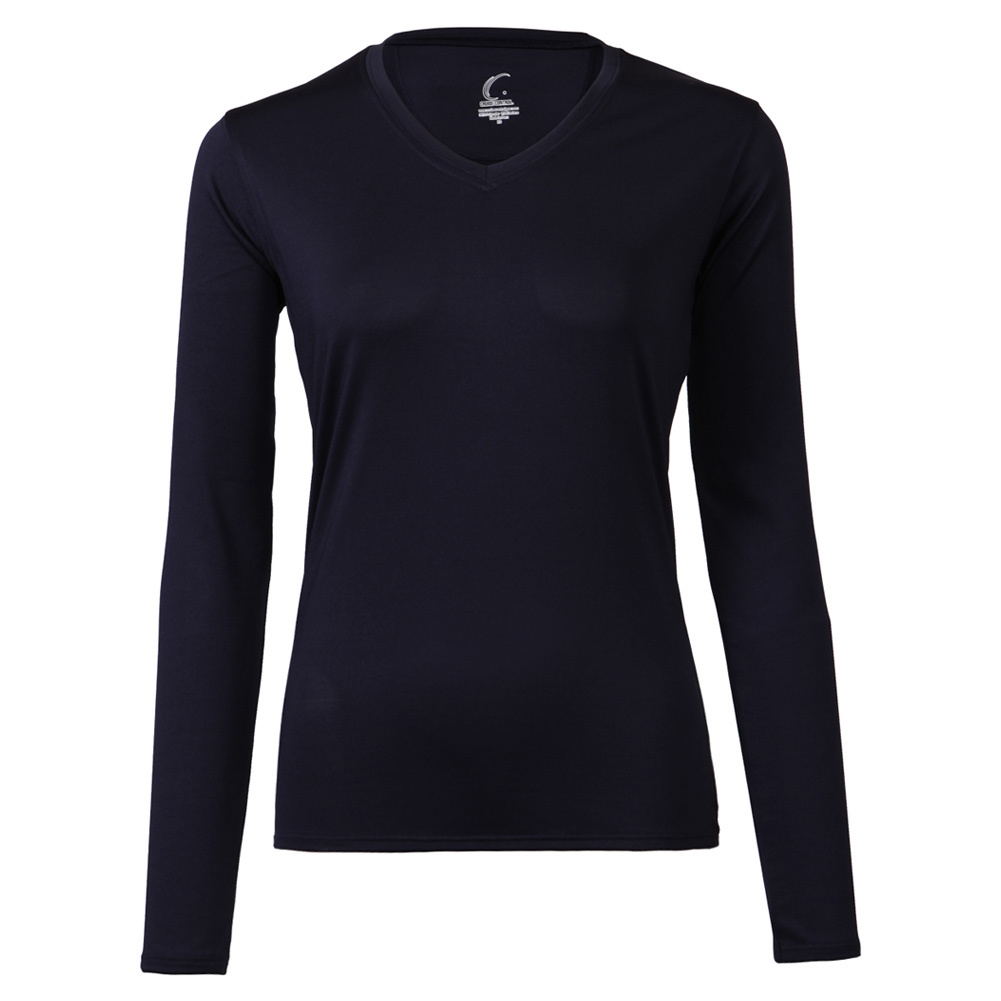 Women's Long Sleeve Tennis Tee Navy