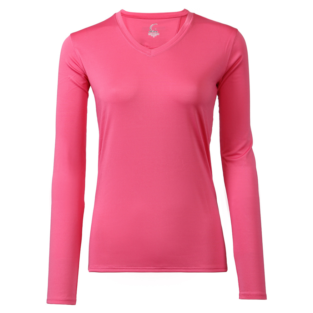 Women's Long Sleeve Tennis Tee Pink